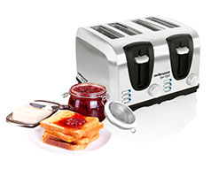 Sigma 4 Slice Stainless Steel Toaster