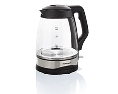 "Mellerware Kettle 360 Degree Cordless Glass Black 1.7L 2200W ""Optic"""