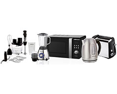 Mellerware Pack 5 Piece Set Black And Stainless Steel