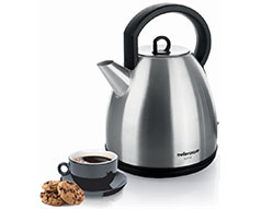 "Mellerware Kettle 360 Degree Cordless Stainless Steel Brushed 1.7L 2200W ""Luna"""