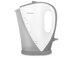 "Mellerware Kettle White And Grey Cordless Plastic 1.7L 2200W ""Zambezi"""