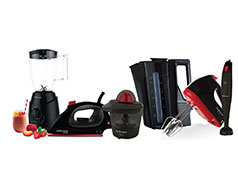 "Mellerware Pack 6 Piece Set Black ""Back To Basics"""