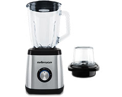 "Mellerware Jug Blender With Coffee Mill Stainless Steel Brushed 1.5L 500W ""Optima"""