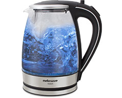 "Mellerware Kettle 360 Degree Cordless Glass Silver 1.8L 2200W ""Azure"""