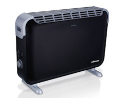 2000W Black Convection Heater with Turbo Fan