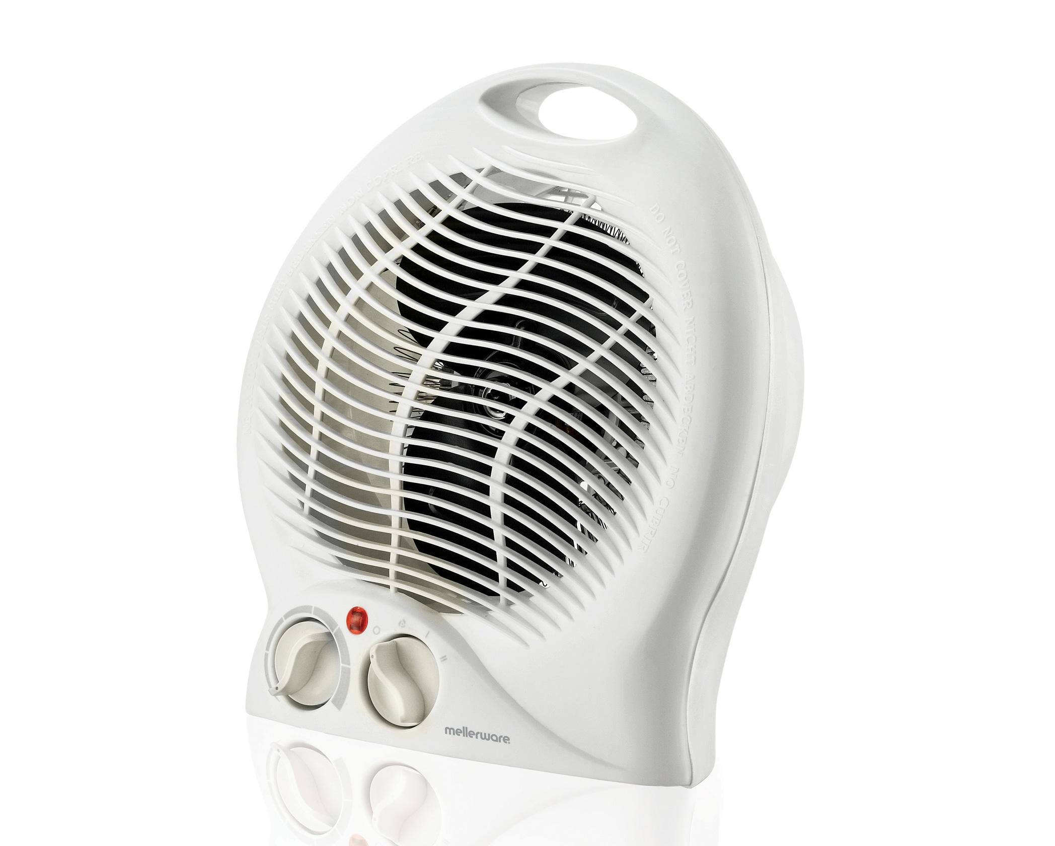 Floor Fan Heater White Mellerware 35200 Mellerware