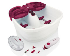 7 Piece Pamper Pack Set with Foot Spa